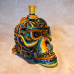 glass skull glass pipe